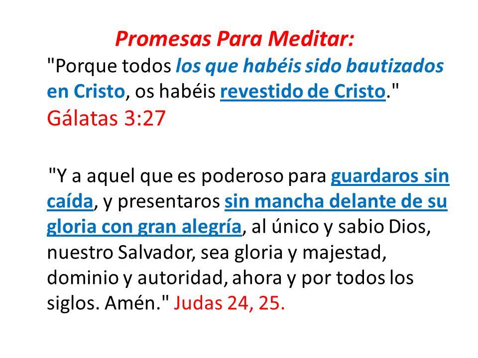 Promesas Para Meditar: