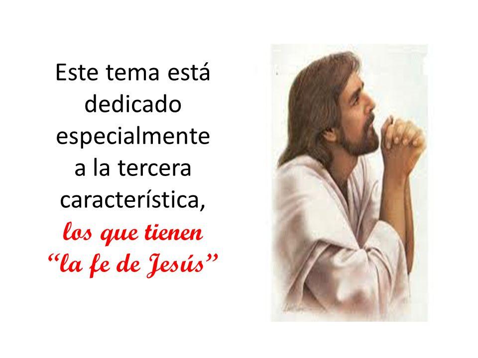 En cierta ocasión un predicador pregunto a sus feligreses:¿cual creen ustedes que es una de las características de la fe de Jesús.