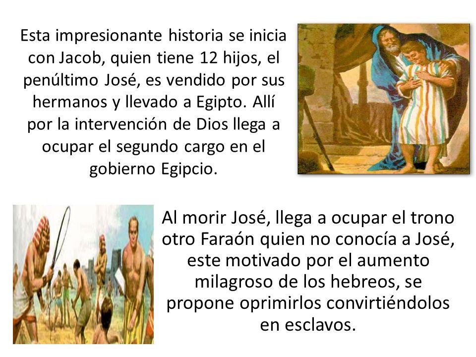 Al morir José, llega a ocupar el trono otro Faraón quien no conocía a José, este motivado por el aumento milagroso de los hebreos, se propone oprimirl