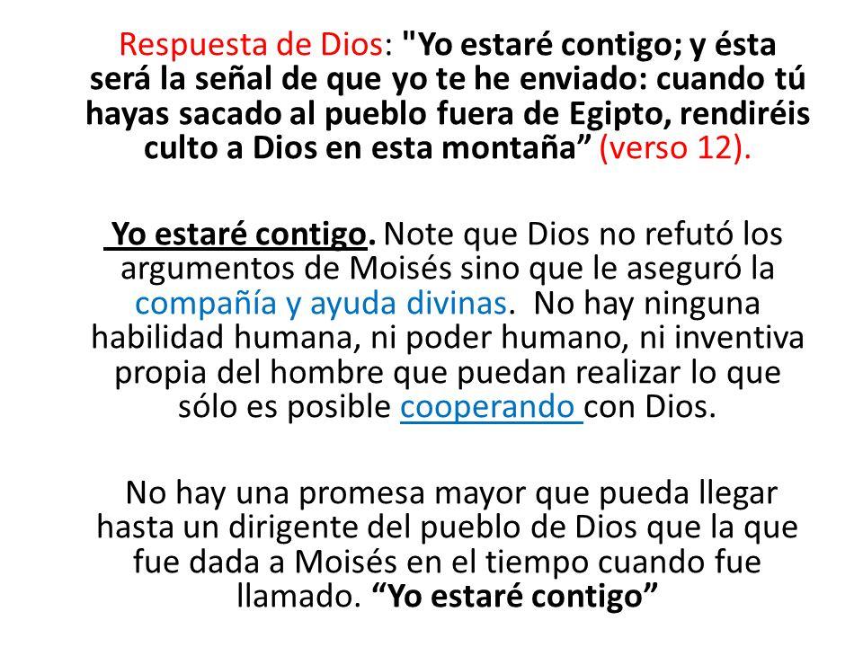 Respuesta de Dios: