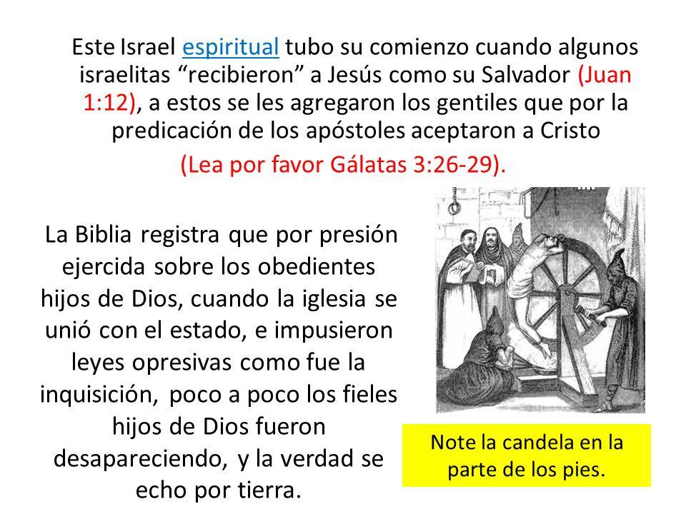 Este Israel espiritual tubo su comienzo cuando algunos israelitas recibieron a Jesús como su Salvador (Juan 1:12), a estos se les agregaron los gentil