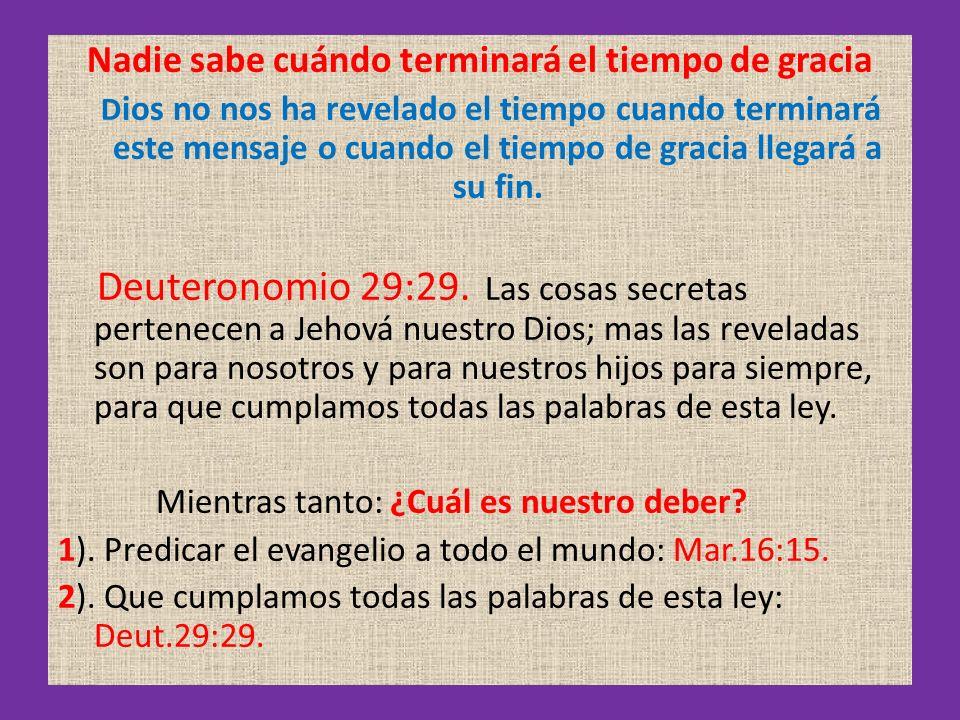 Entonces se cumplirán las palabras de Cristo: Dos mujeres estarán, moliendo juntas; la una será tomada, y la otra dejada.