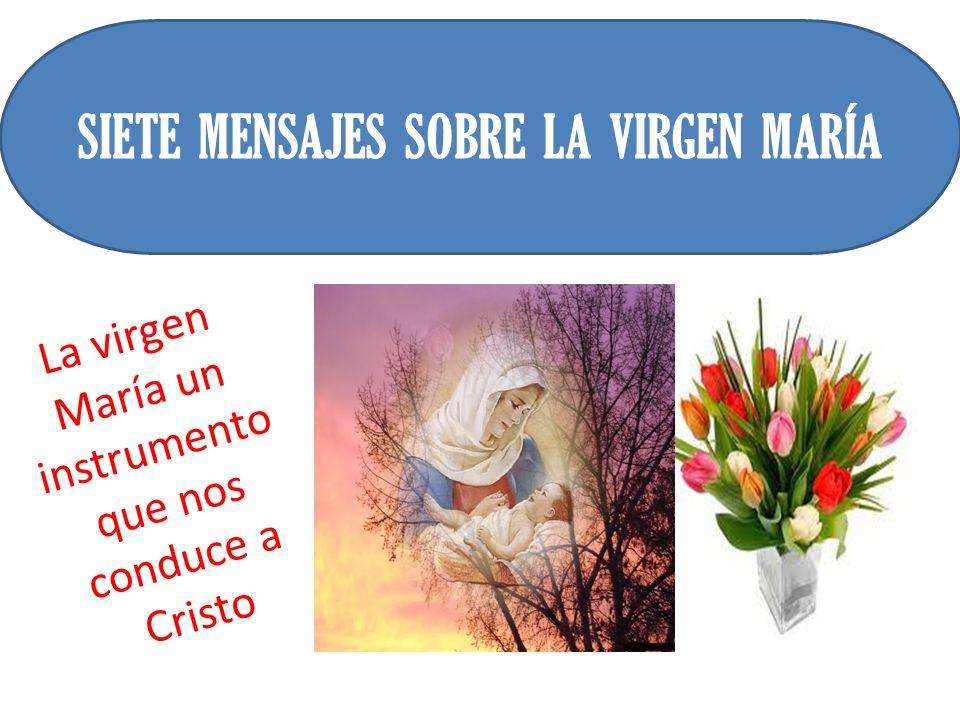 La virgen María un instrumento que nos conduce a Cristo SIETE MENSAJES SOBRE LA VIRGEN MARÍA