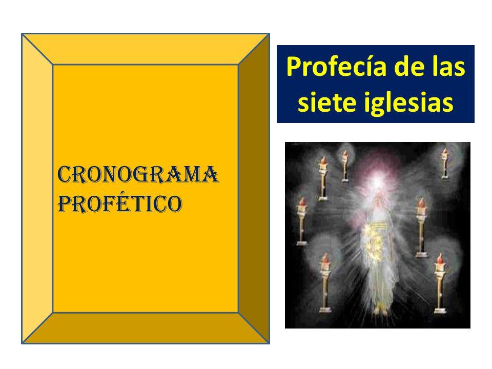 Cronograma profético Profecía de las siete iglesias