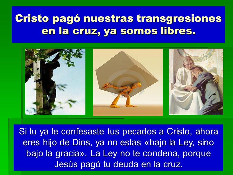 Cristo pagó nuestras transgresiones en la cruz, ya somos libres. Si tu ya le confesaste tus pecados a Cristo, ahora eres hijo de Dios, ya no estas «ba