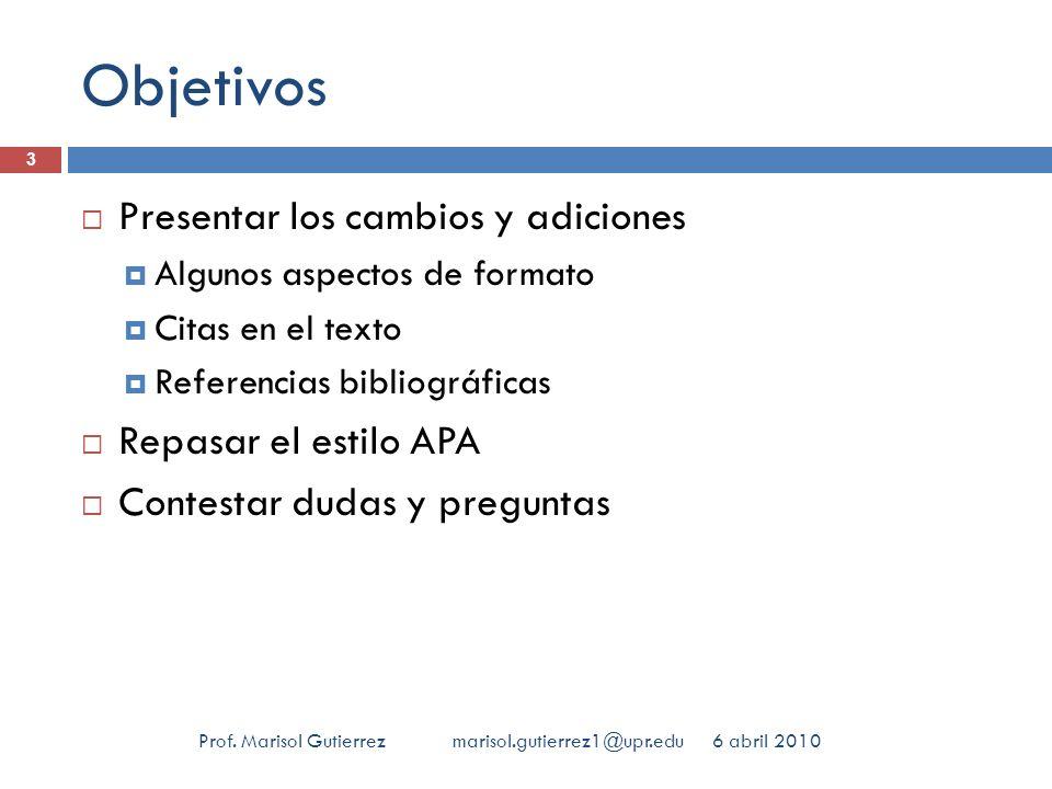 Tesis y disertaciones 6 abril 2010Prof.