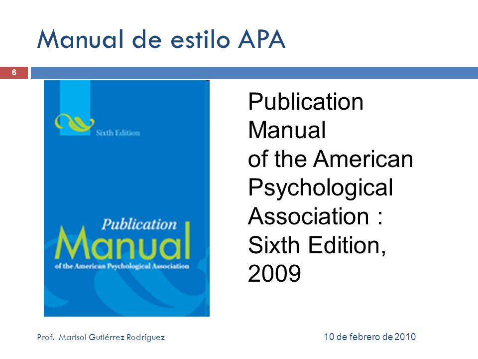 Revista: digital en base de datos 6 abril 2010Prof.