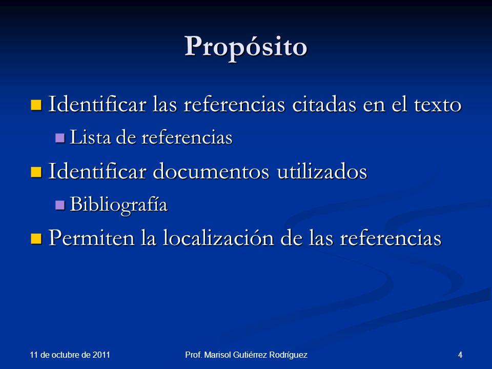 Tesis y disertaciones 11 de octubre de 2011 65Prof.