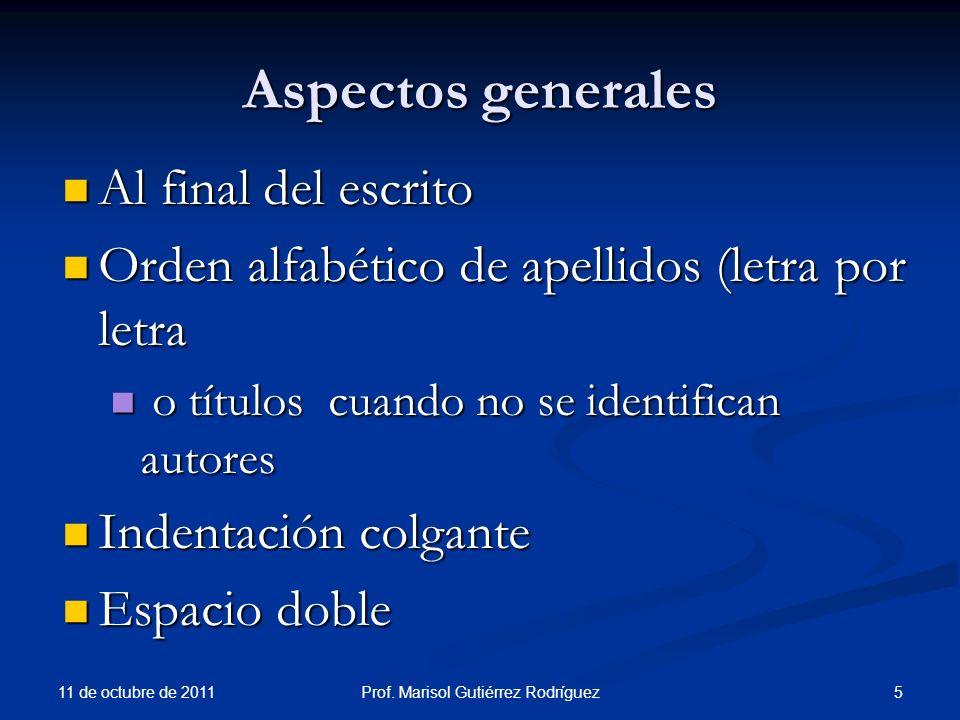 Tesis y disertaciones 11 de octubre de 2011 66Prof.