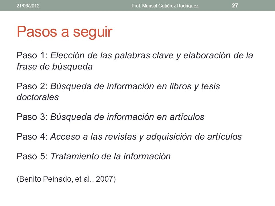 ETAPAS 21/06/2012Prof. Marisol Gutiérez Rodríguez 26