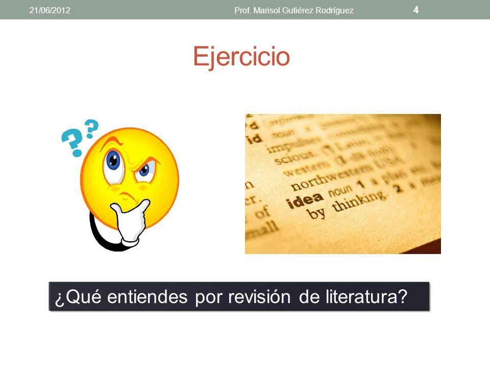 DEFINICIONES Y CONCEPTOS 21/06/2012Prof. Marisol Gutiérez Rodríguez 3