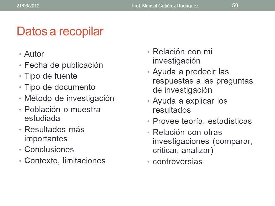 Texto original Parafraseo 7/septiembre/2012Prof. Marisol Gutiérrez para CEA 58 Desde entonces, se ha intentado cambiar la enseñanza; de un proceso de