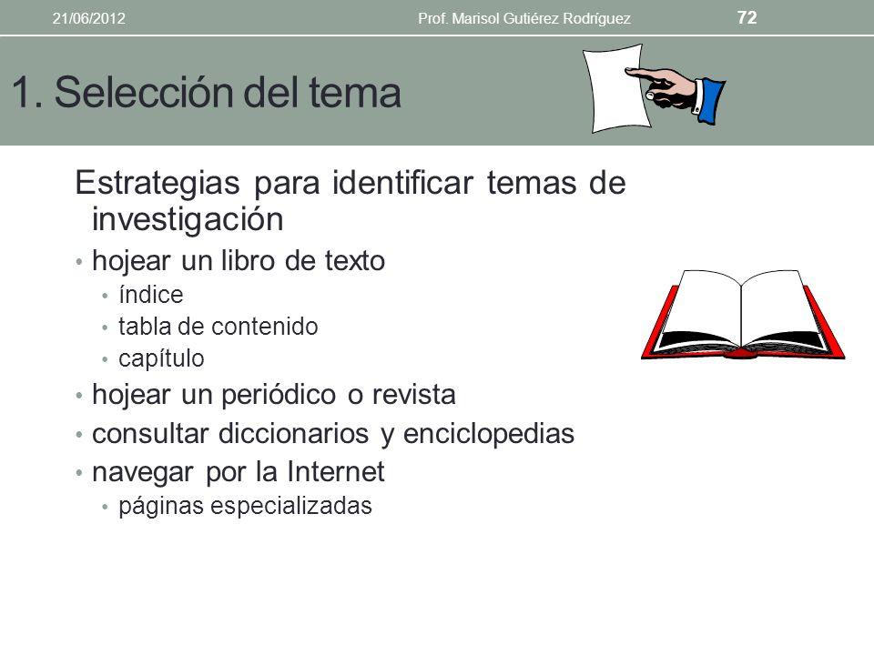 Diseño de estrategias de búsqueda 1. Selección del tema 2. Vocabulario a. Tesauros, fuentes secundarias 3. Estrategias booleanas 4. Estrategia de búsq