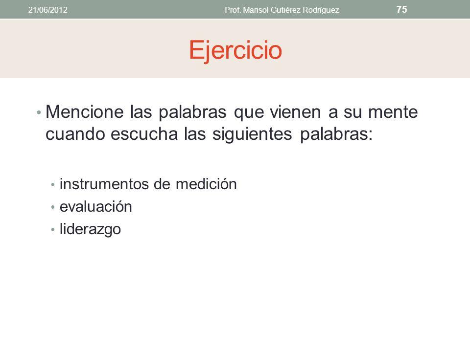 2. Vocabulario 21/06/2012Prof. Marisol Gutiérez Rodríguez 74