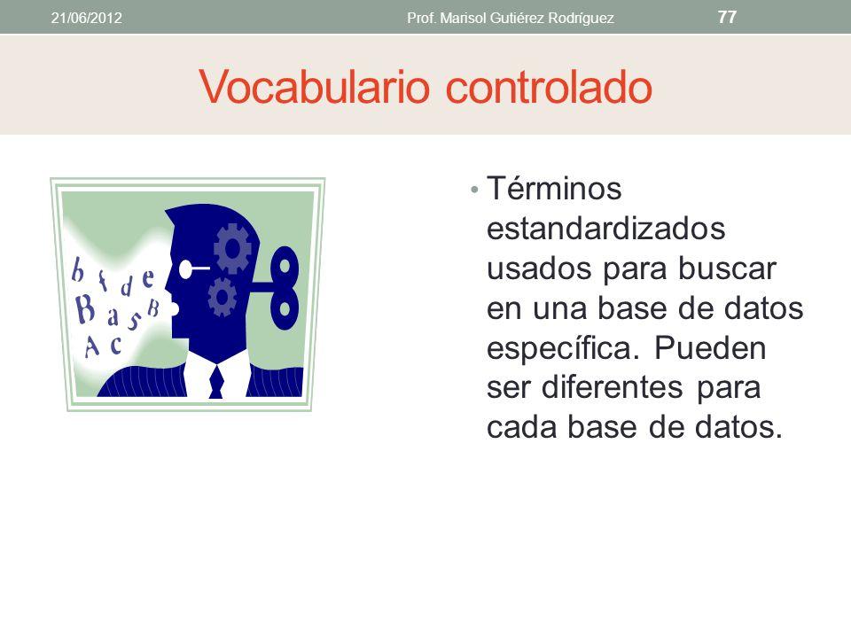 Palabras claves (keywords) Términos o frases cortas que definen lo mejor posible los puntos principales de un asunto palabras comunes Una palabra sign