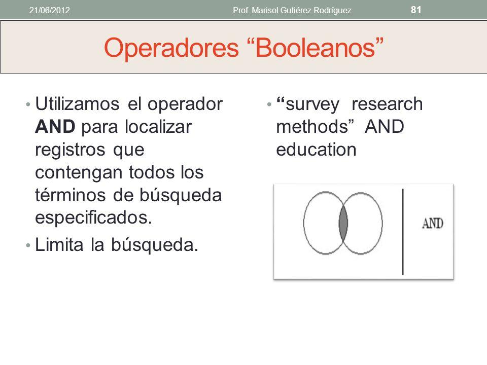 3. Búsquedas booleanas Operadores Booleanos Operadores lógicos que permiten realizar búsquedas complejas. Cada herramienta de búsqueda tiene distintos