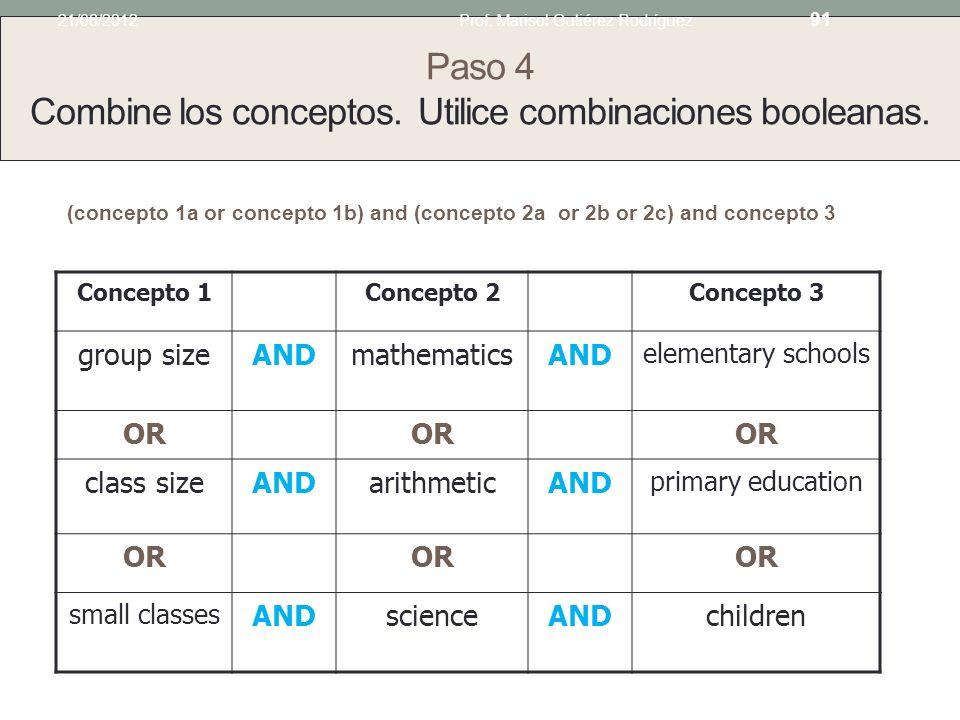Paso 3 Considere posibles sinónimos para cada concepto. Utilice tesauros, diccionarios y la lista de materias de la Biblioteca del Congreso de Estados