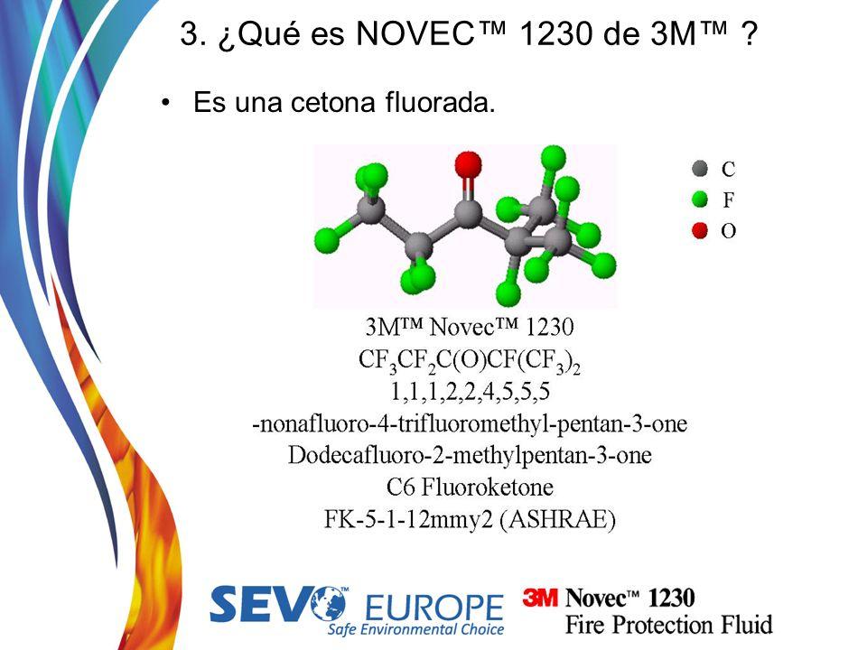 3. ¿Qué es NOVEC 1230 de 3M ? Es una cetona fluorada.