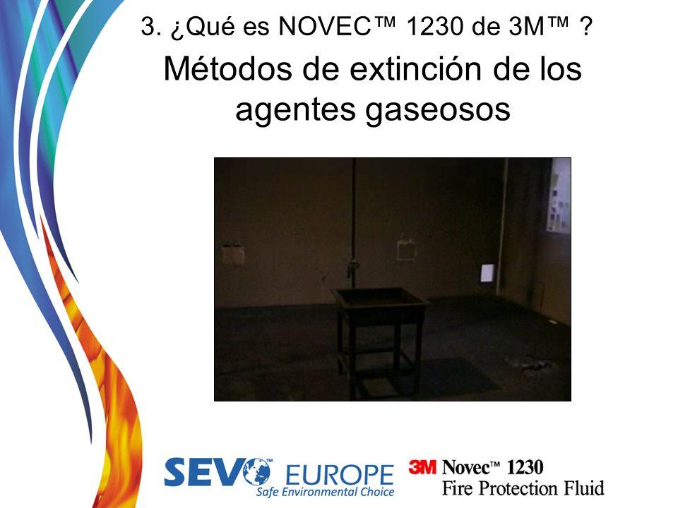 Métodos de extinción de los agentes gaseosos 3. ¿Qué es NOVEC 1230 de 3M ?