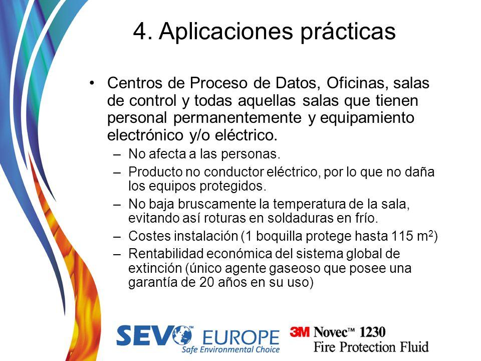 Centros de Proceso de Datos, Oficinas, salas de control y todas aquellas salas que tienen personal permanentemente y equipamiento electrónico y/o eléc