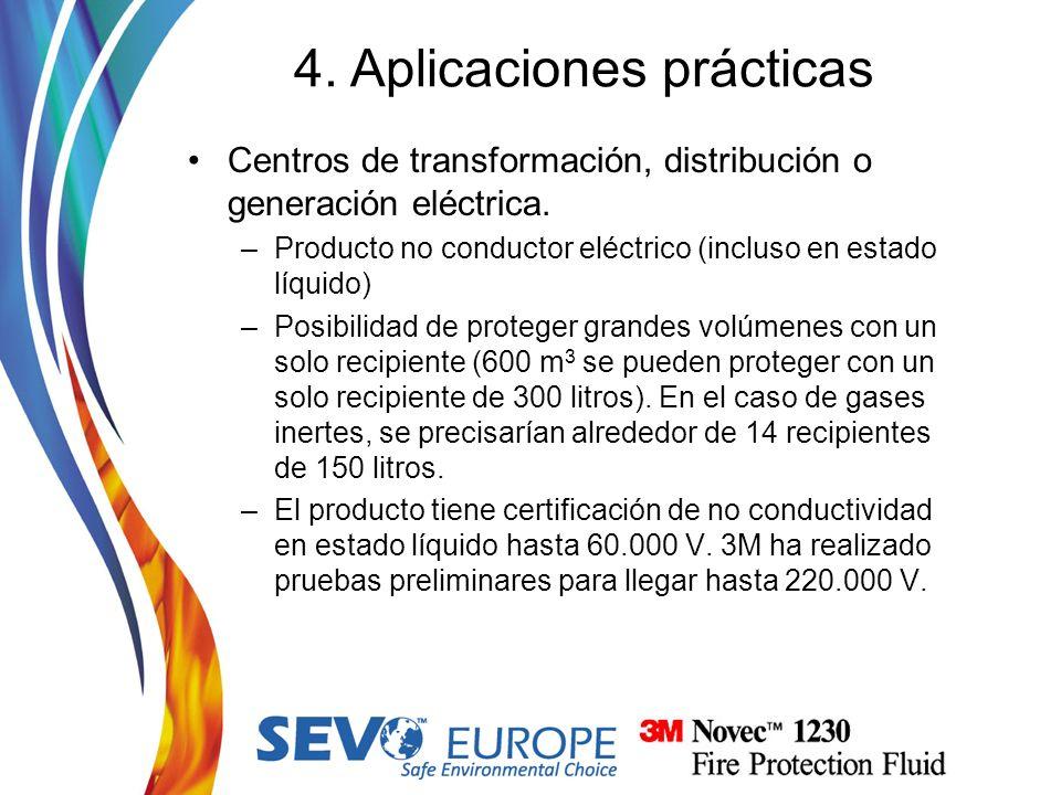 Centros de transformación, distribución o generación eléctrica. –Producto no conductor eléctrico (incluso en estado líquido) –Posibilidad de proteger