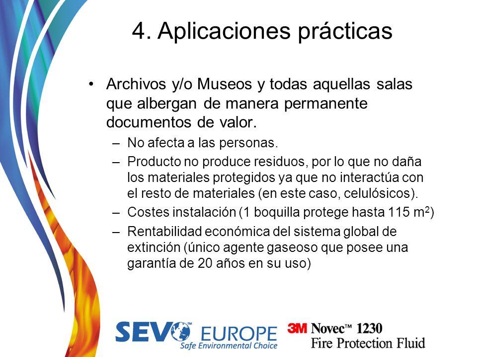 Archivos y/o Museos y todas aquellas salas que albergan de manera permanente documentos de valor. –No afecta a las personas. –Producto no produce resi