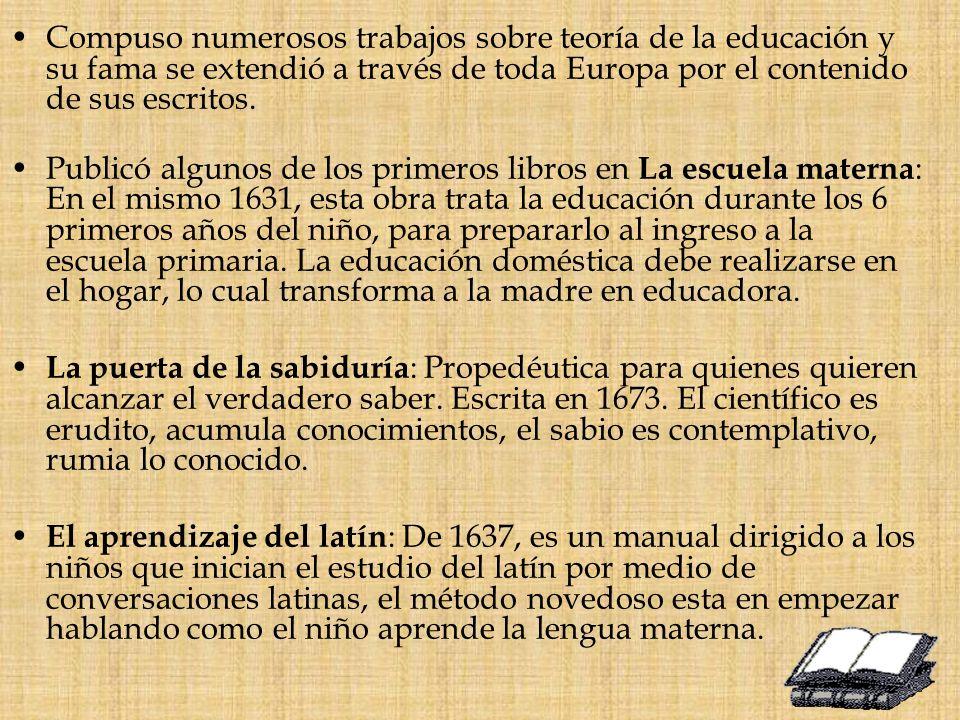 El estudio del latín : Es un curso superior para los aprendices infantiles, escrita en 1638, con el estudio de las declinaciones y conjugaciones, y pequeñas traducciones de trozos.