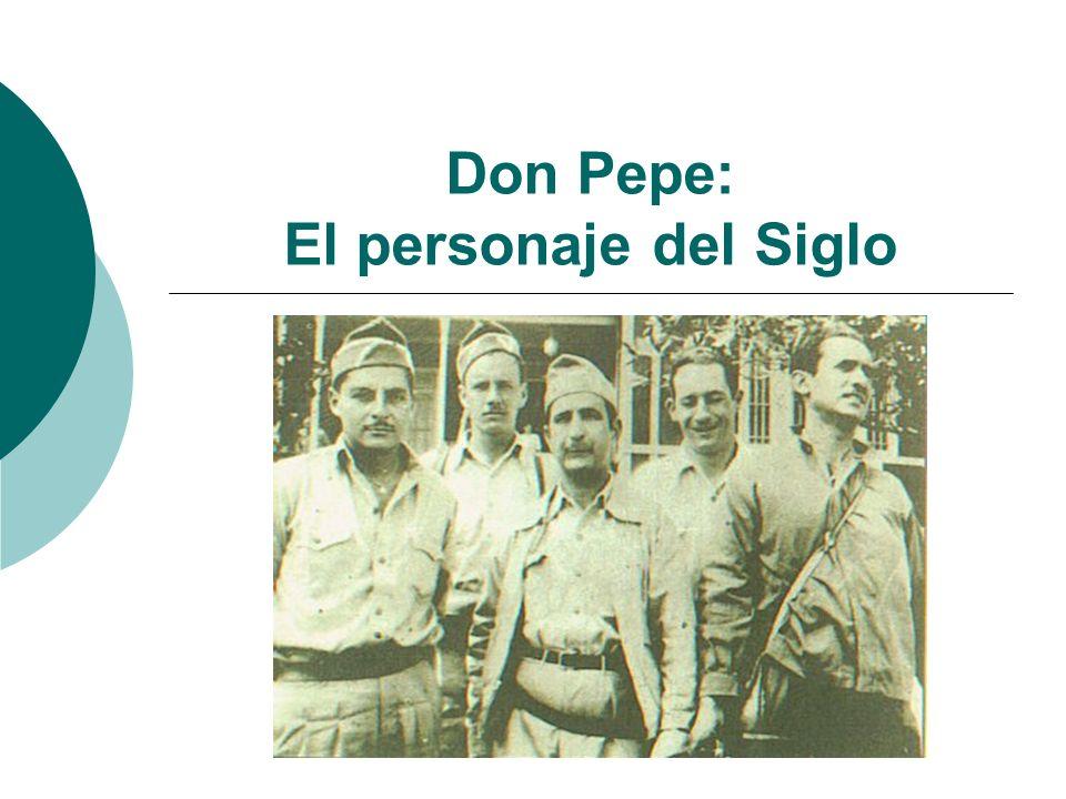 Un rol protagónico en la historia A finales de 1999, La Nación y una elección popular designaron a Don Pepe como el costarricense más influyente en la historia patria de este siglo.