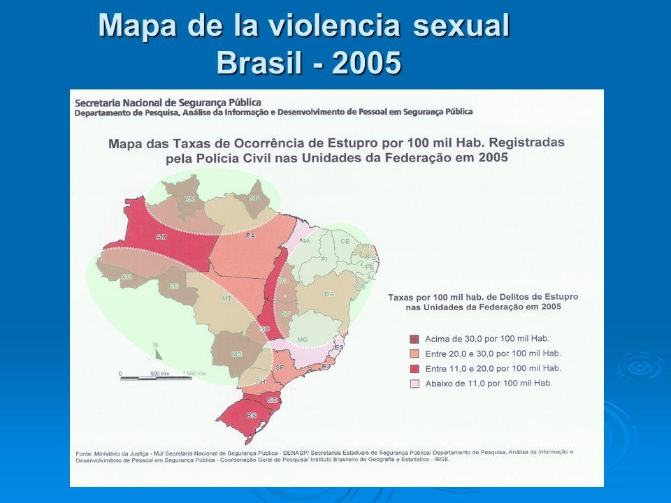 Mapa de la violencia sexual Brasil - 2005