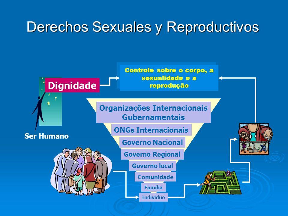 Indivíduo Família Comunidade Governo local Governo Regional Governo Nacional ONGs Internacionais Organizações Internacionais Gubernamentais Derechos S