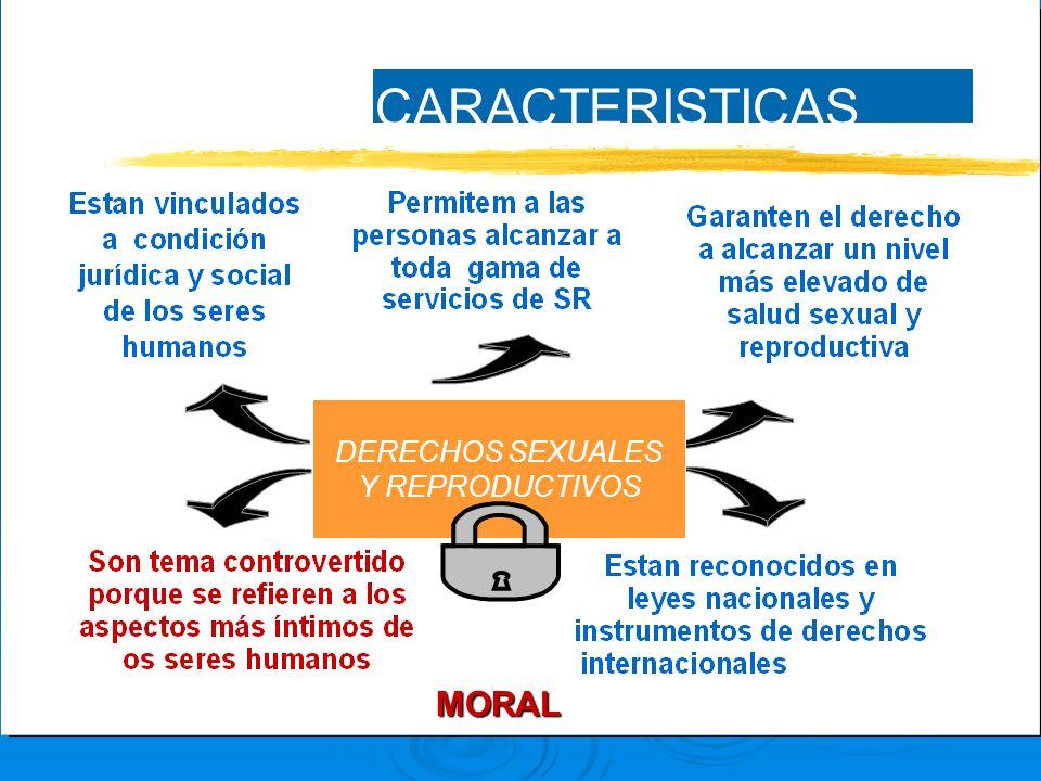 DERECHOS SEXUALES Y REPRODUCTIVOS CARACTERISTICAS MORAL