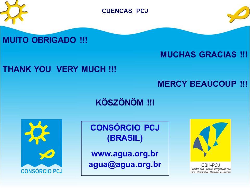 CONCLUSIONES Prácticamente todos los Instrumentos de Gestión de los Recursos Hídricos, previstos en la legislación brasileña, están aplicados en las C