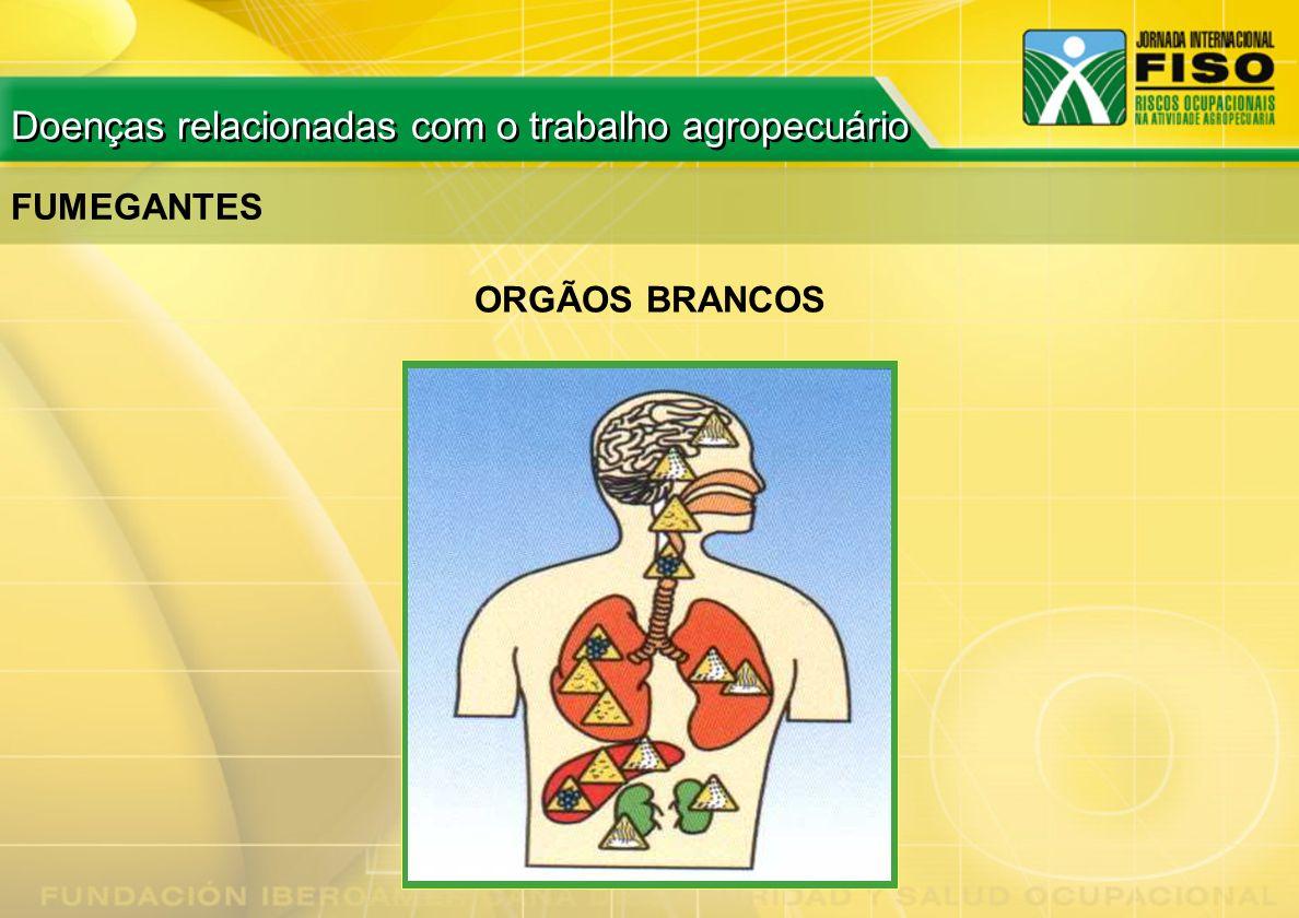 FUMEGANTES ORGÃOS BRANCOS Doenças relacionadas com o trabalho agropecuário