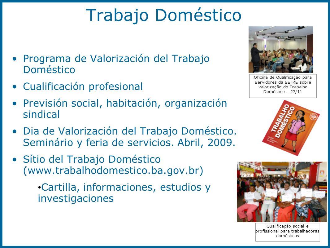 Qualificação social e profissional para trabalhadoras domésticas Oficina de Qualificação para Servidores da SETRE sobre valorização do Trabalho Domést