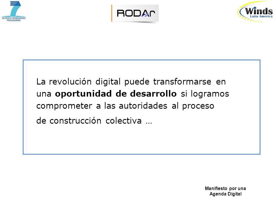 RODAr propone la construcción de una Agenda Digital que permita gestar una visión para la inclusión de la Argentina en la Sociedad del Conocimiento.