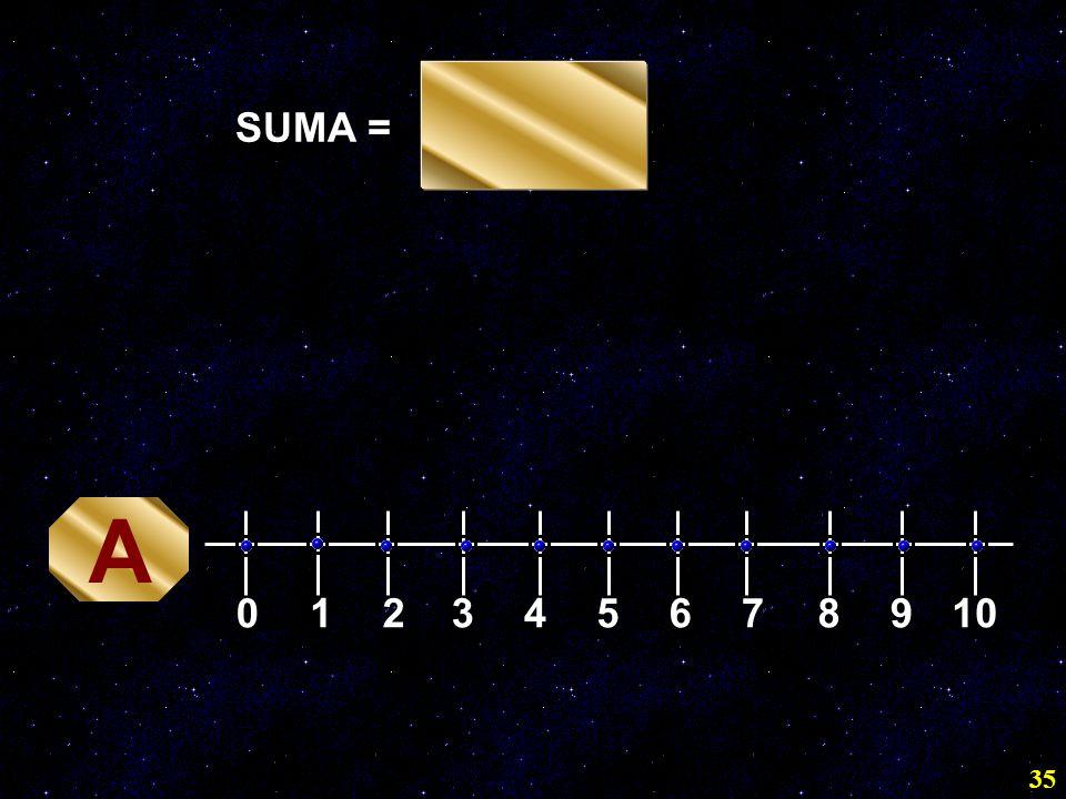 35 SUMA = 0 12345678910 A