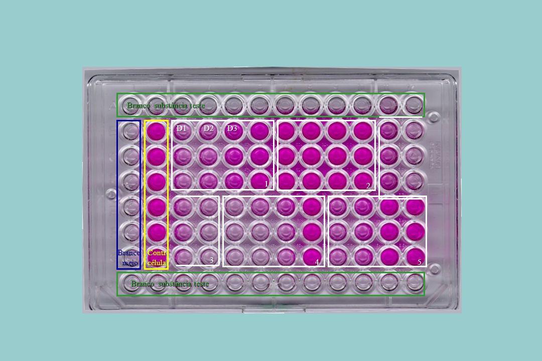 ContrcélulaBrancomeio Branco substância teste 1 D1D2D3 2 45 3
