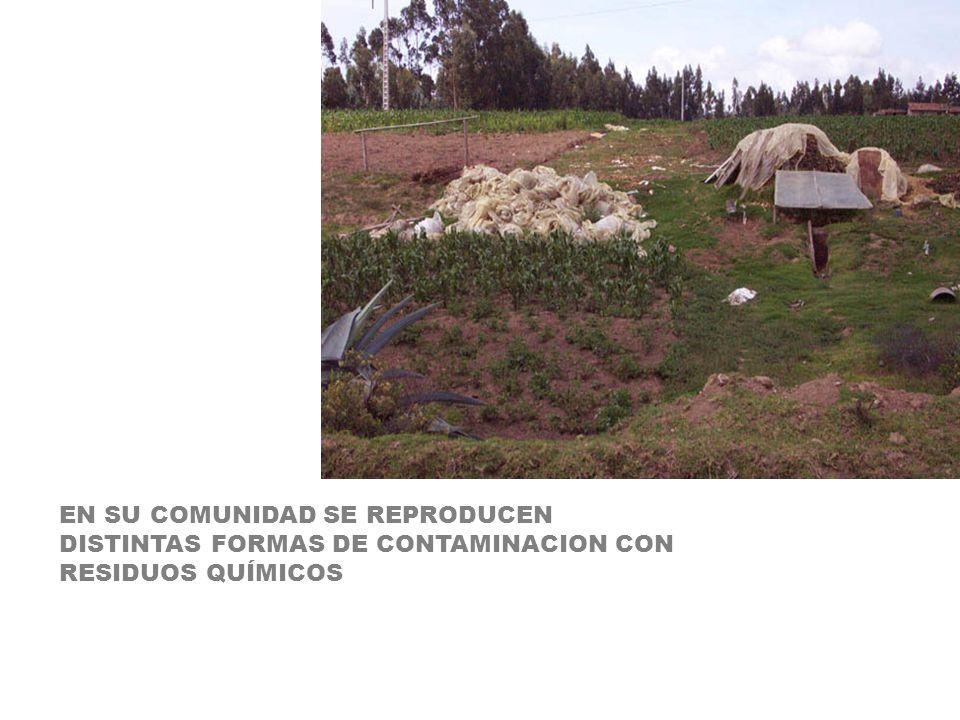 EN SU COMUNIDAD SE REPRODUCEN DISTINTAS FORMAS DE CONTAMINACION CON RESIDUOS QUÍMICOS