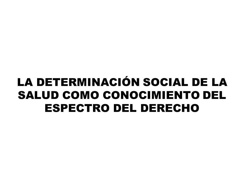 LA DETERMINACIÓN SOCIAL DE LA SALUD COMO CONOCIMIENTO DEL ESPECTRO DEL DERECHO