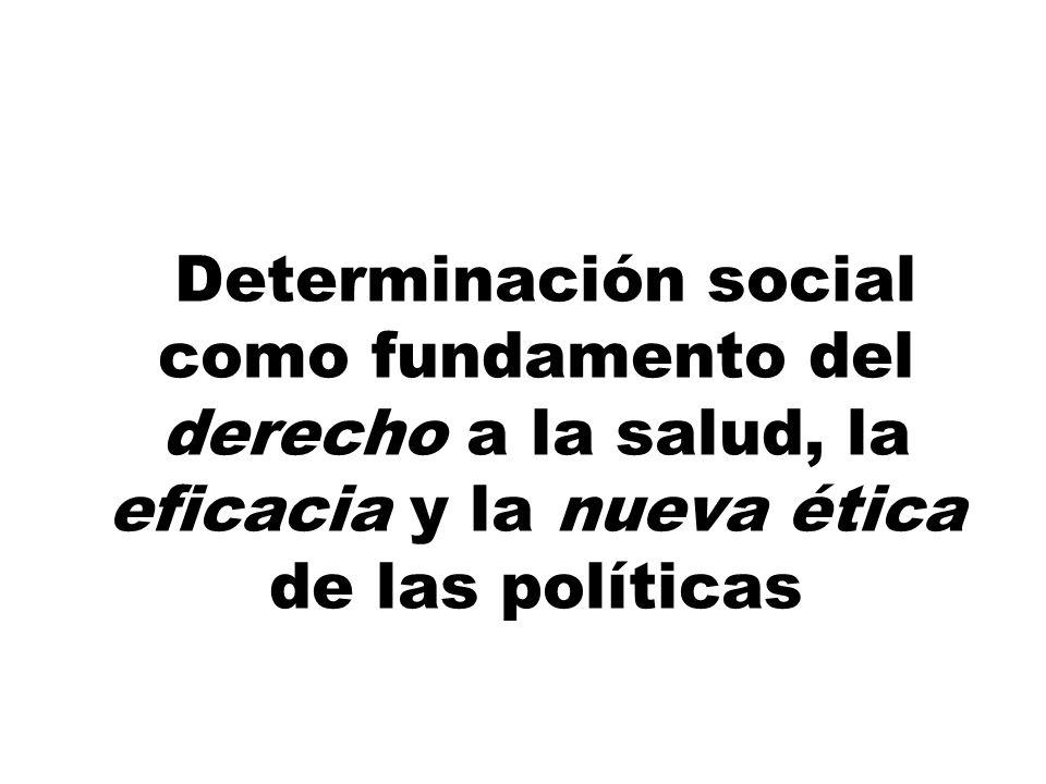 Determinación social como fundamento del derecho a la salud, la eficacia y la nueva ética de las políticas