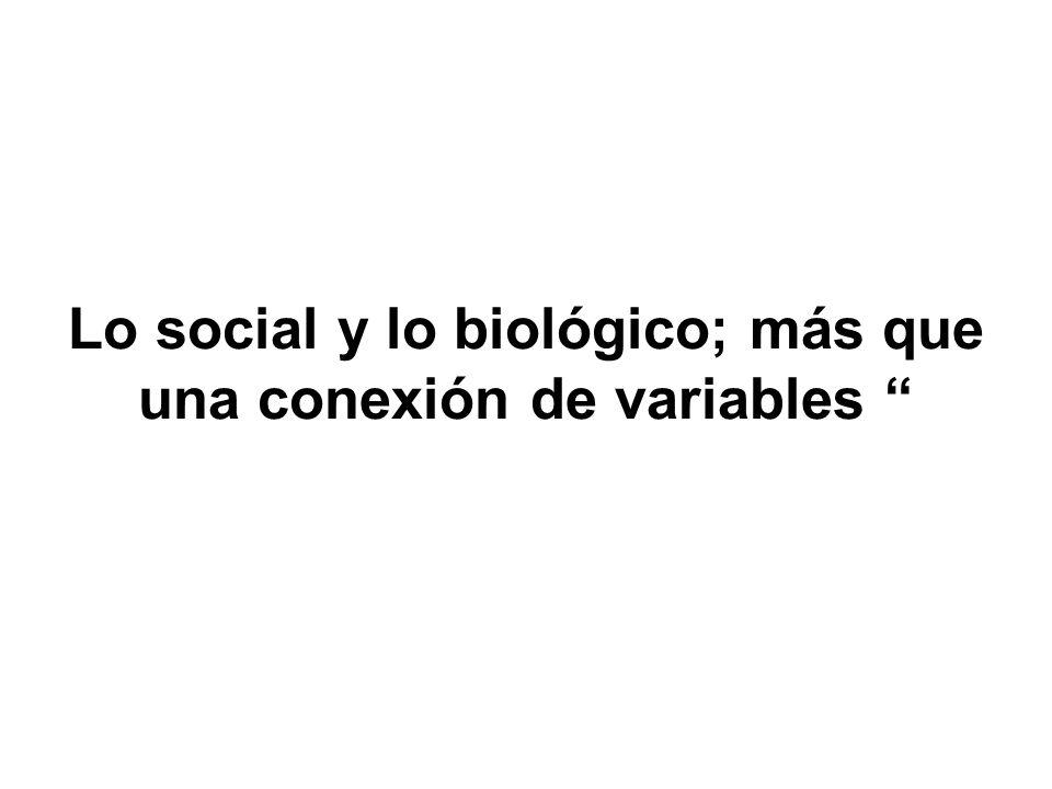 Lo social y lo biológico; más que una conexión de variables