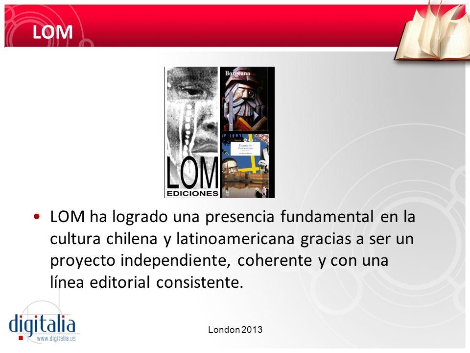 LOM LOM ha logrado una presencia fundamental en la cultura chilena y latinoamericana gracias a ser un proyecto independiente, coherente y con una líne