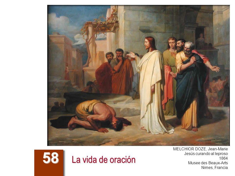 La vida de oración 58 MELCHIOR DOZE, Jean-Marie Jesús curando al leproso 1864 Musee des Beaux-Arts Nimes, Francia