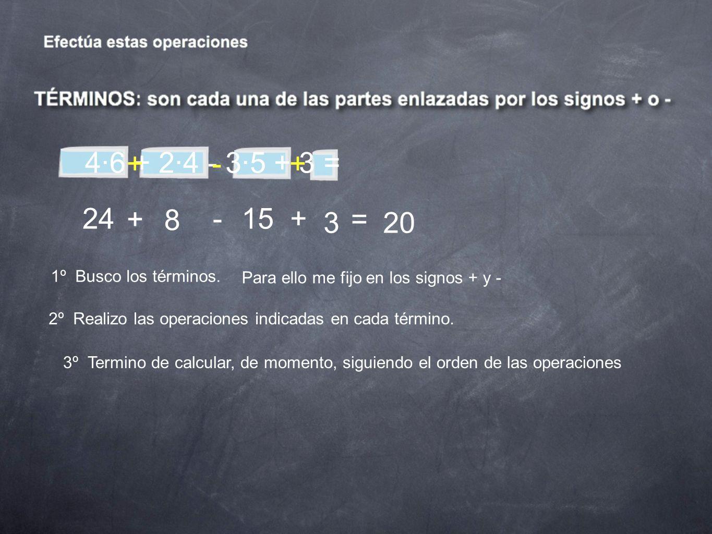 33:11 + 12·2:3 + 12·(9 -3) = 1º Busco los términos.