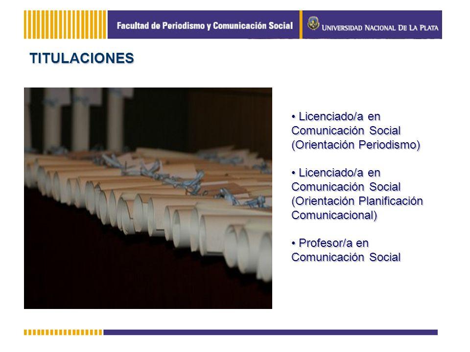 Licenciado/a en Comunicación Social (Orientación Periodismo) Licenciado/a en Comunicación Social (Orientación Periodismo) Licenciado/a en Comunicación