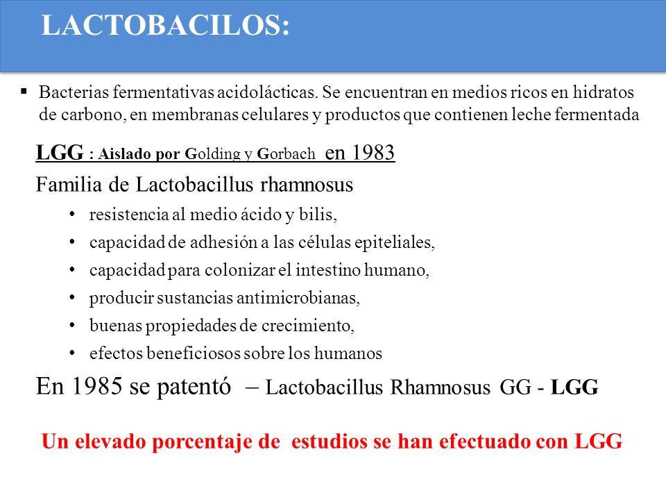 LACTOBACILOS: Bacterias fermentativas acidolácticas. Se encuentran en medios ricos en hidratos de carbono, en membranas celulares y productos que cont