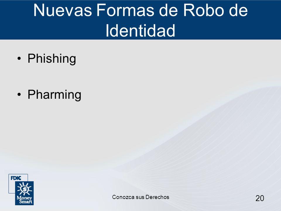 20 Nuevas Formas de Robo de Identidad Phishing Pharming Conozca sus Derechos
