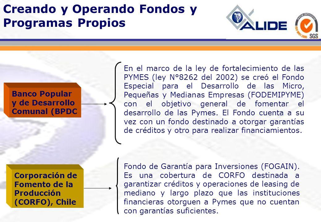 En el marco de la ley de fortalecimiento de las PYMES (ley N°8262 del 2002) se creó el Fondo Especial para el Desarrollo de las Micro, Pequeñas y Medi