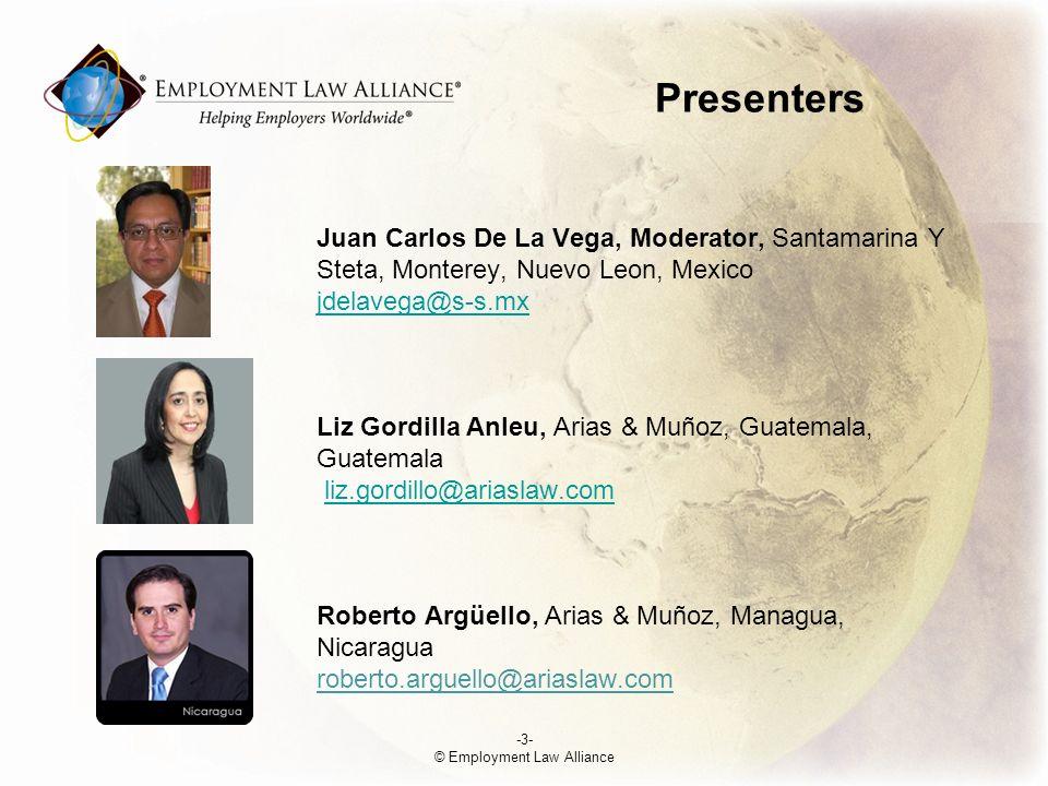 Presenters Anna Karina Jiménez, Arias & Muñoz, San José, Costa Rica ajimenez@ariaslaw.co.cr Diego S.