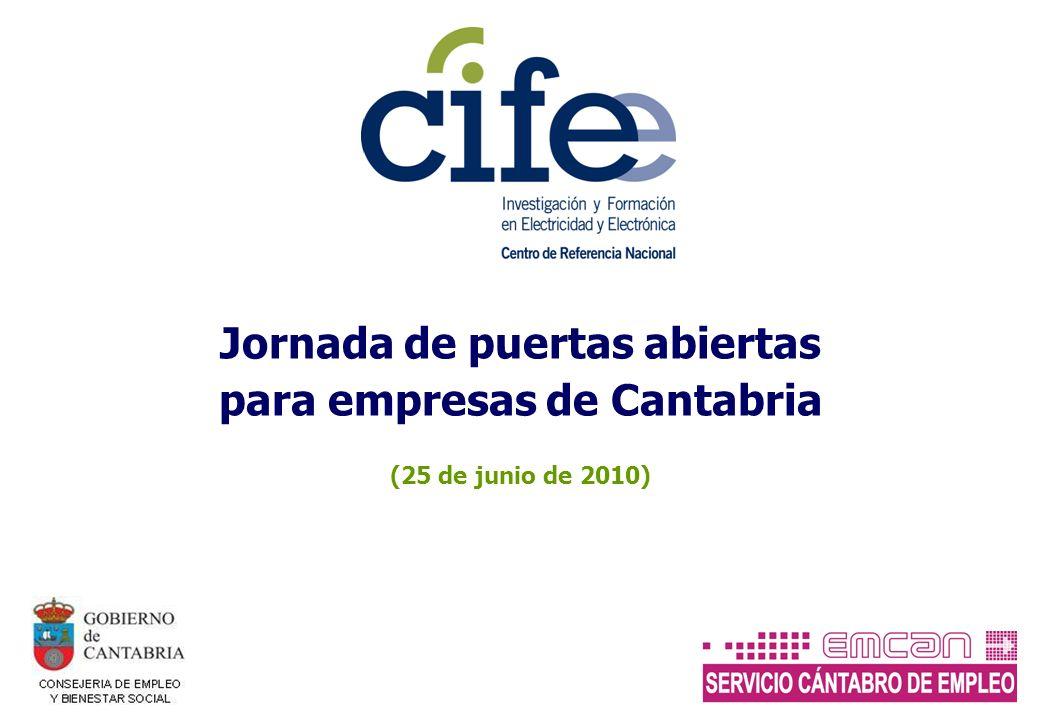 Jornada de puertas abiertas para empresas de Cantabria (25 de junio de 2010)